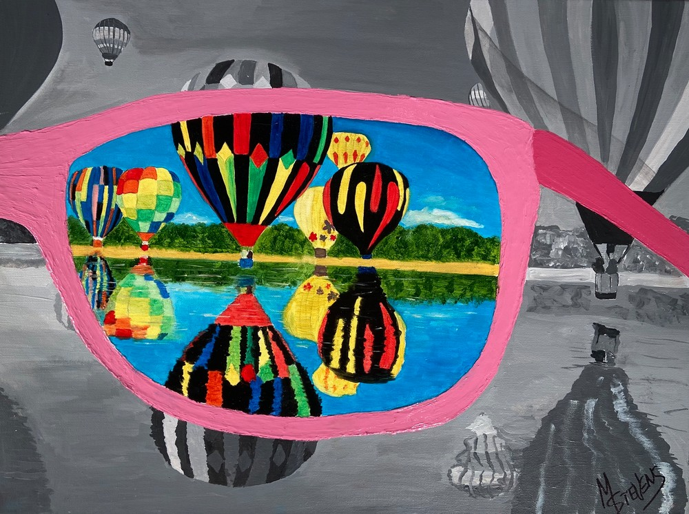 Through My Rose Colored Glasses Art   Coat Of Many Colors