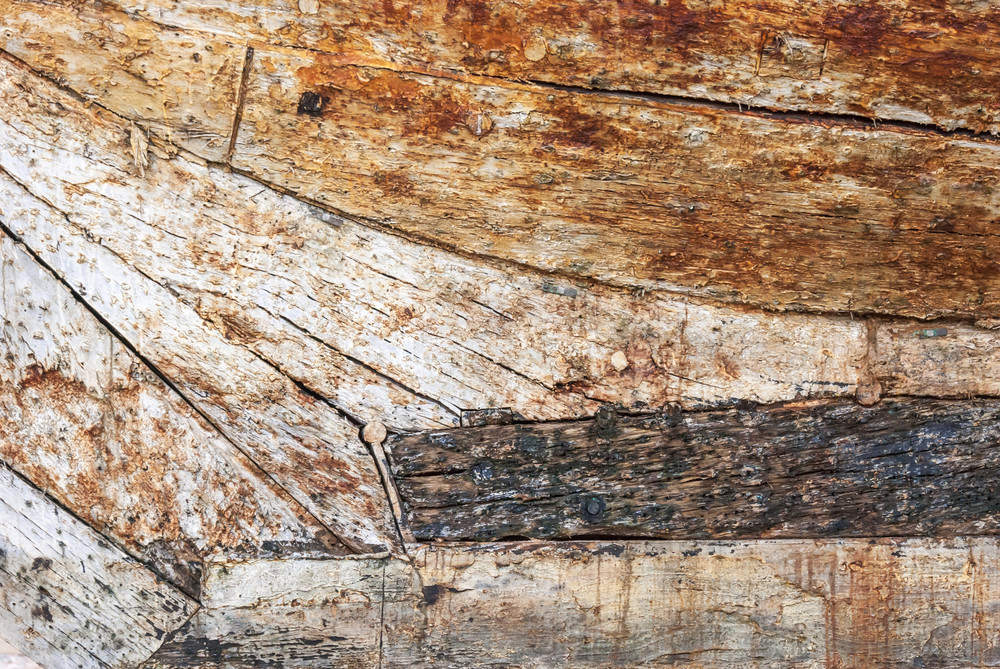 Bow Stem Meets Keel - 19th c. Barque