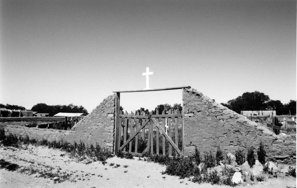 Native American Cross BW 3