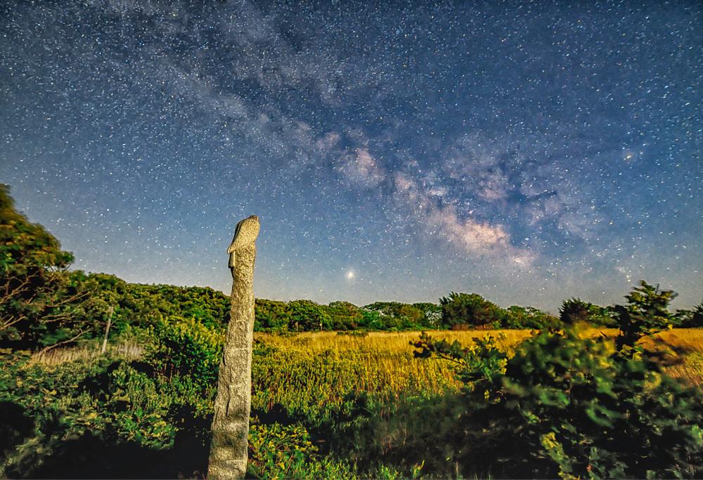 Long Point Milky Way Statue Art | Michael Blanchard Inspirational Photography - Crossroads Gallery