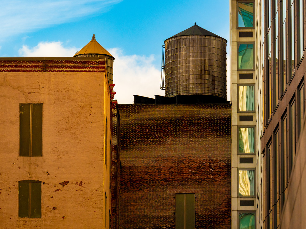 High Line Water Towers # 2, Nyc Photography Art | Ben Asen Photography