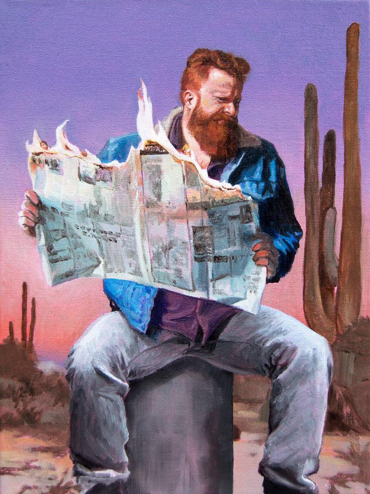 Just Wait Til You Read The News Art   Kym Day Studio