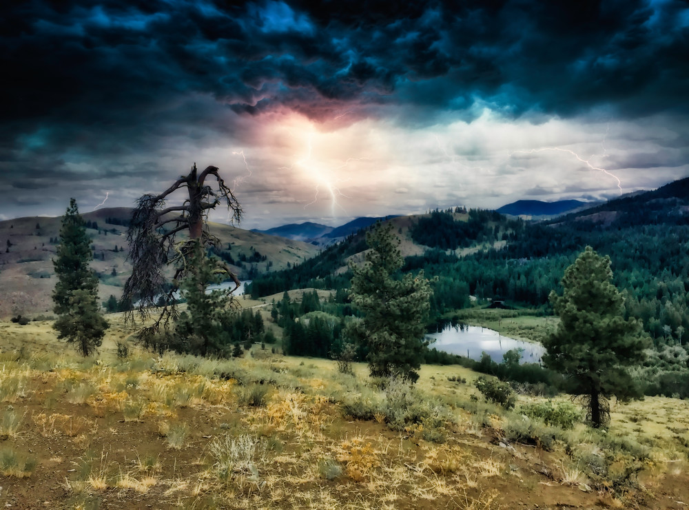 Mountain Storm Photography Art | CJ Harding