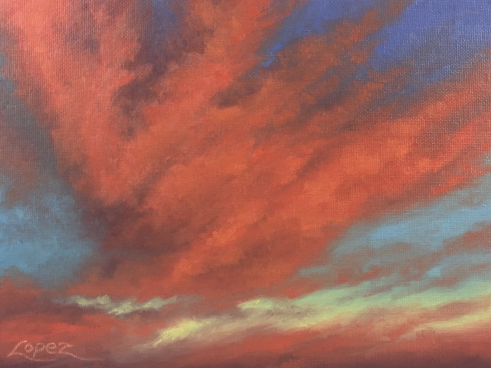 Valley Sunset Art | Gema Lopez Fine Arts