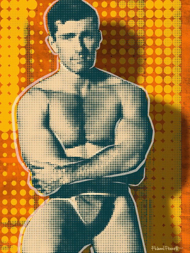 Body Builder art, mid century art, gay male art, gay art