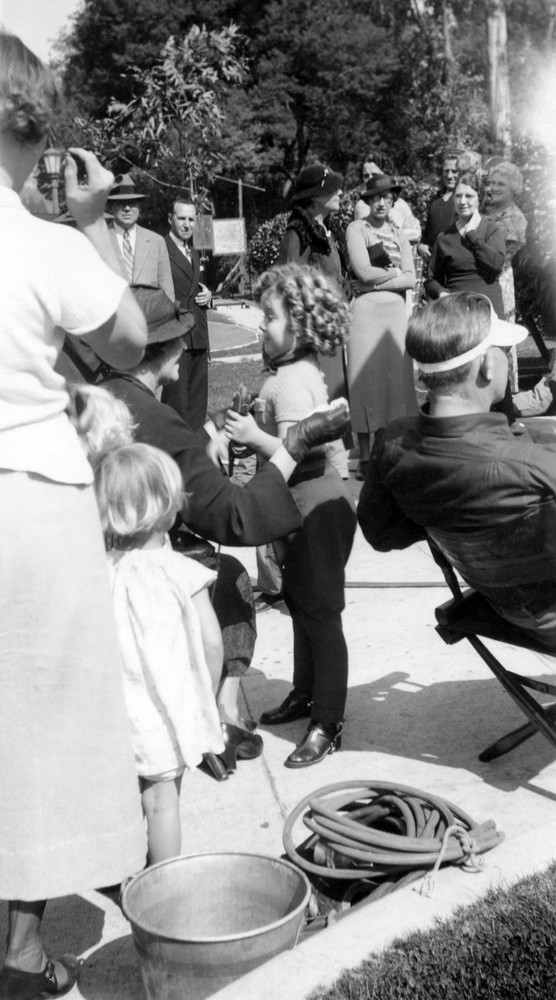 Shirley Temple on the Set of Poor Little Rich Girl
