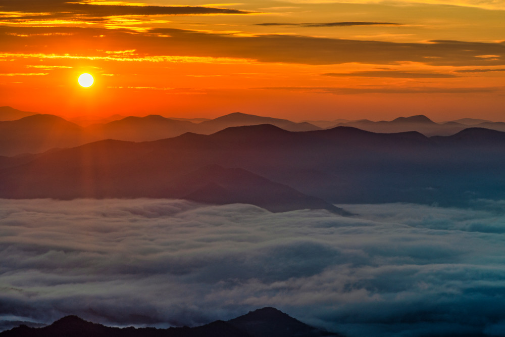 Albert Mountain Sunrise - Nantahala Mountains fine-art photography prints
