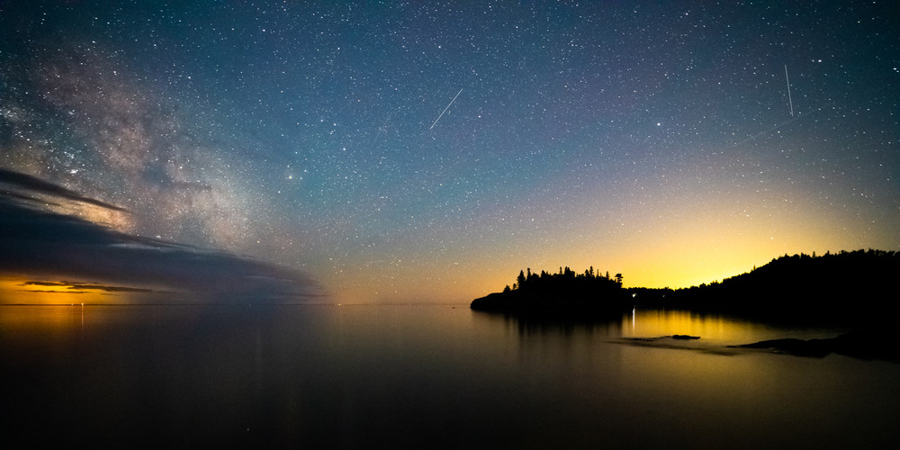 Ellingson Island And The Milky Way June 20 2020 Photography Art | William Drew Photography