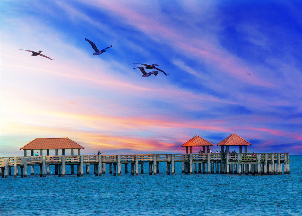Pier in Pensacola, Florida.