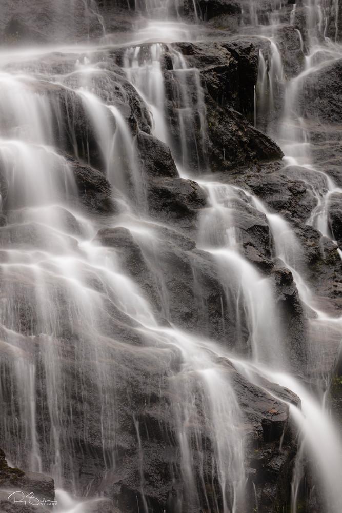 Long exposure of Horsetail Falls in Keystone Canyon near Valdez in Southcentral Alaska.