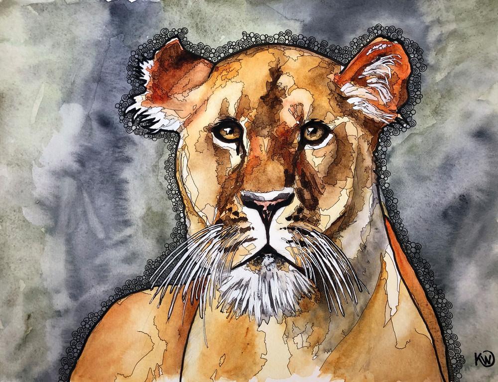 The Lioness Art   Water+Ink Studios