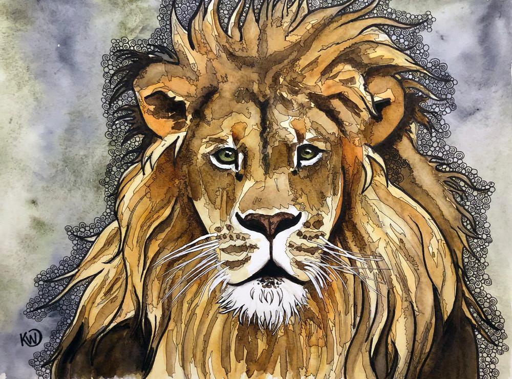 The Lion Art | Water+Ink Studios