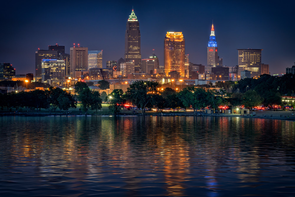 Cleveland at Night | Shop Photography by Rick Berk