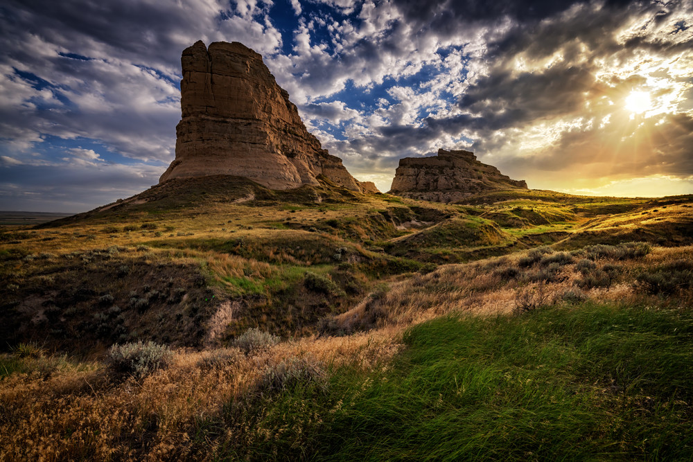 Sunset at Courthouse & Jail Rocks | Shop Photography by Rick Berk