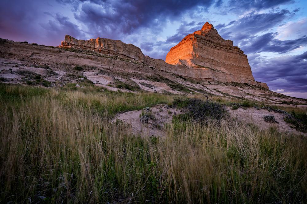 Scotts Bluff at Sunset | Shop Photography by Rick Berk