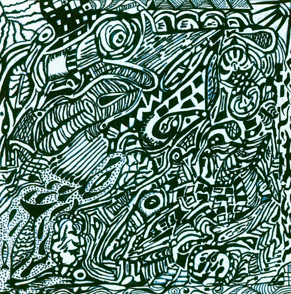 Blues Scale Series  #19 Art   Aldo Borromei