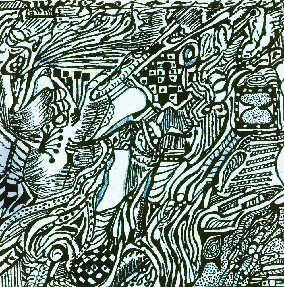 Blues Scale Series  #21 Art   Aldo Borromei