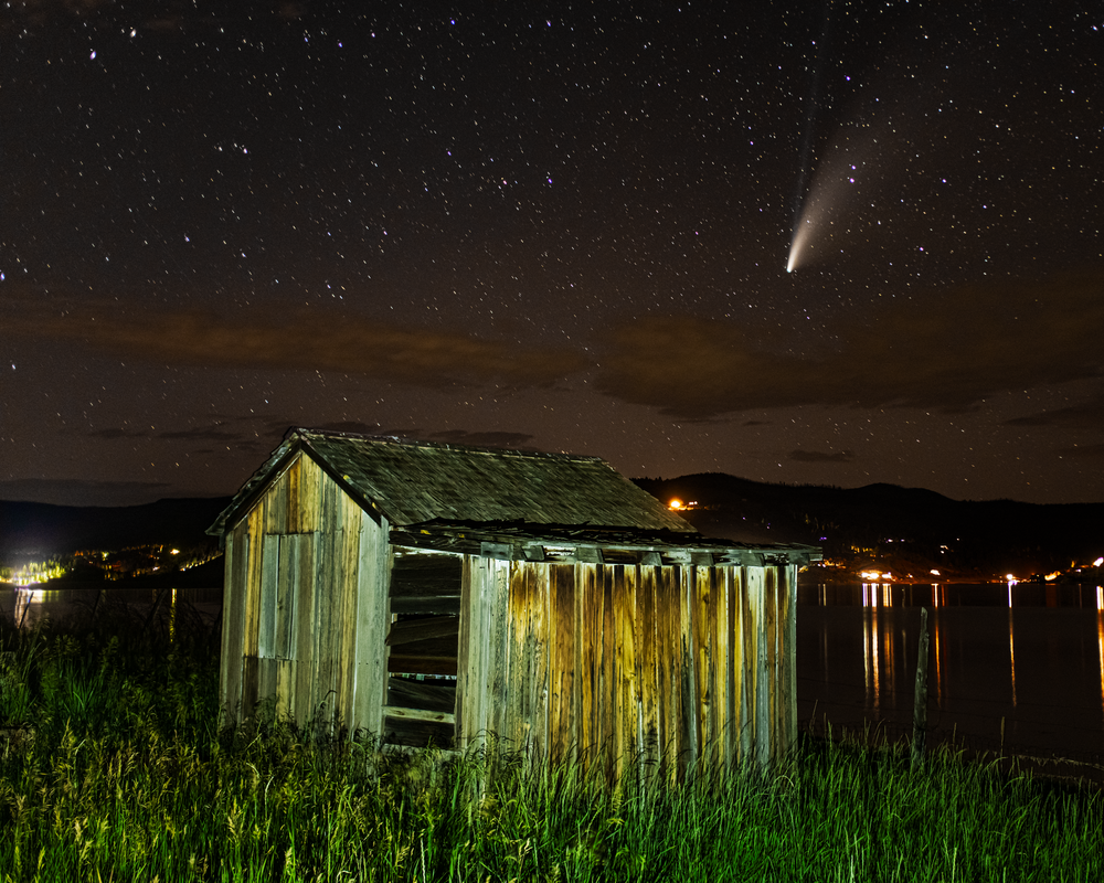 Neowise And The Shed Photography Art | Craig Primas Photography