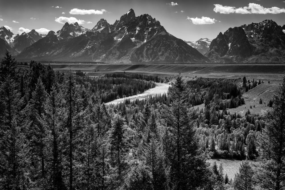 Grand Teton and the Snake River Black & White | Shop Photography by Rick Berk
