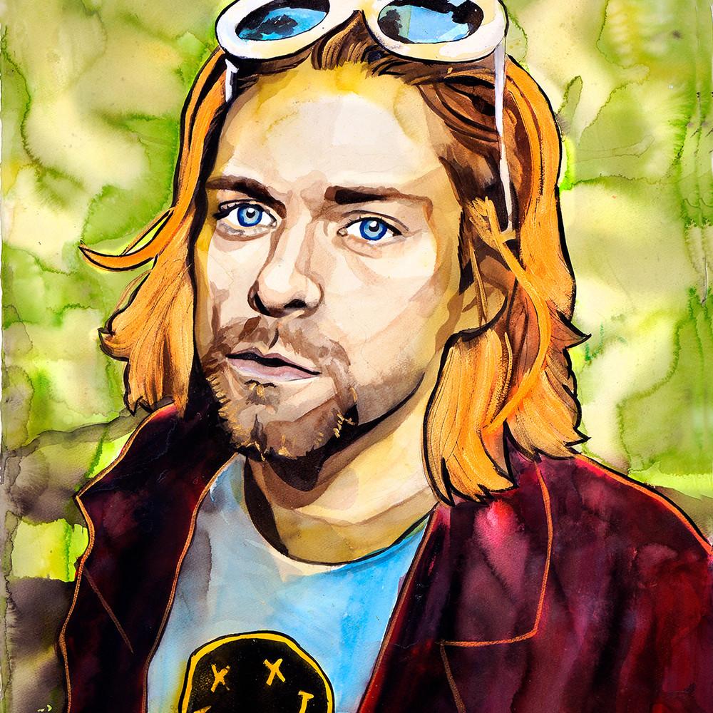 Kurt Cobain Life Force Coaster Art   William K. Stidham - heART Art