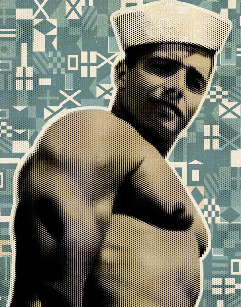 gay art, vintage sailor art, pop art print, nautical wall art, retro sailor canvas art