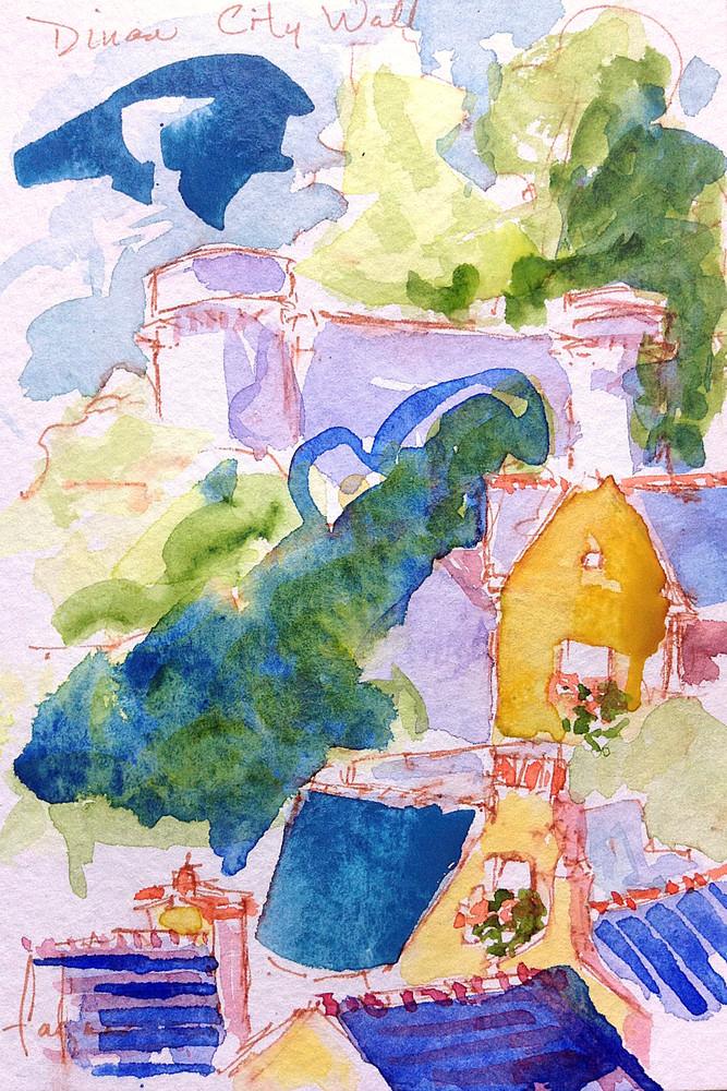 Cascading Dreams (Watercolor) Art | Dorothy Fagan Joy's Garden