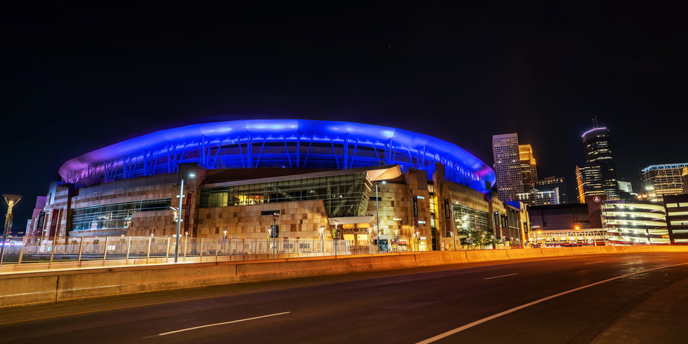 Target Field Minneapolis Blue And Pink Photography Art | William Drew Photography