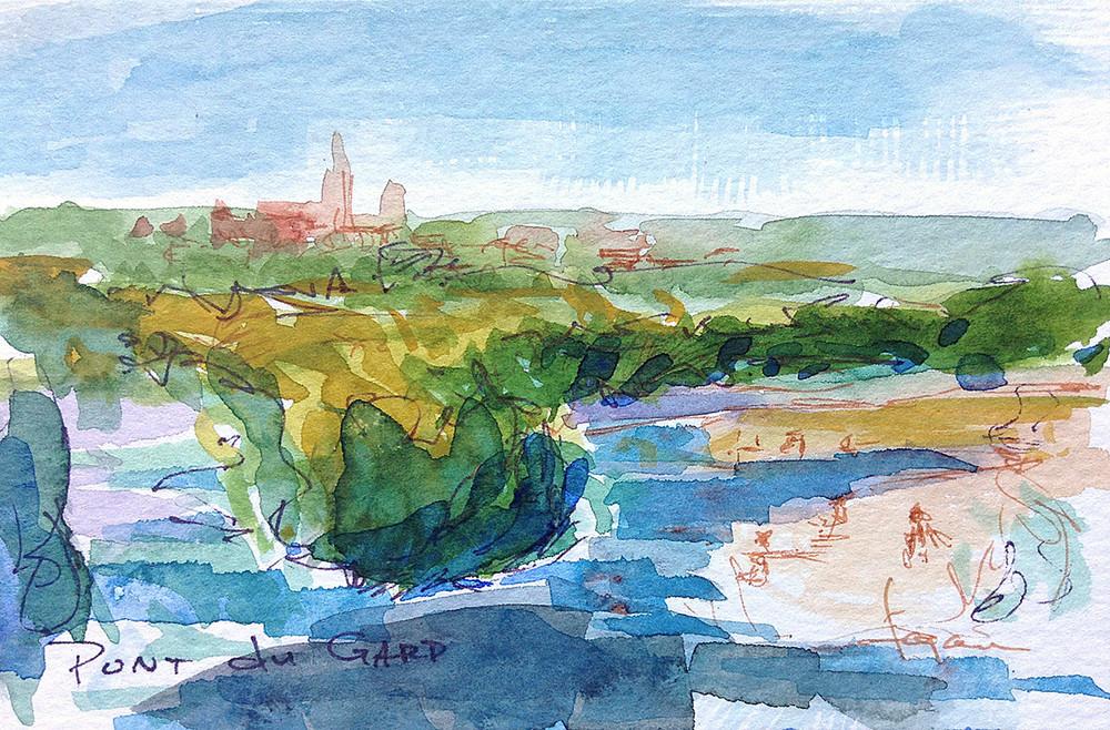Pond Du Gard Art | Dorothy Fagan Joy's Garden