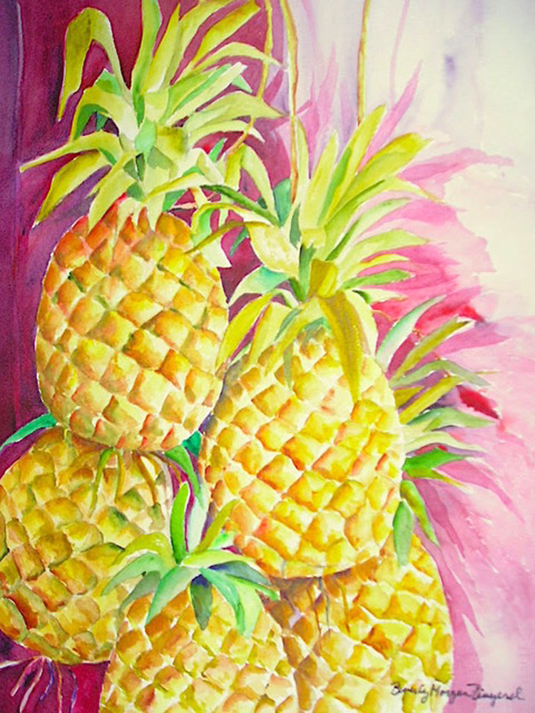 Pineapples for Sale, From an Orignal Watercolor Painting