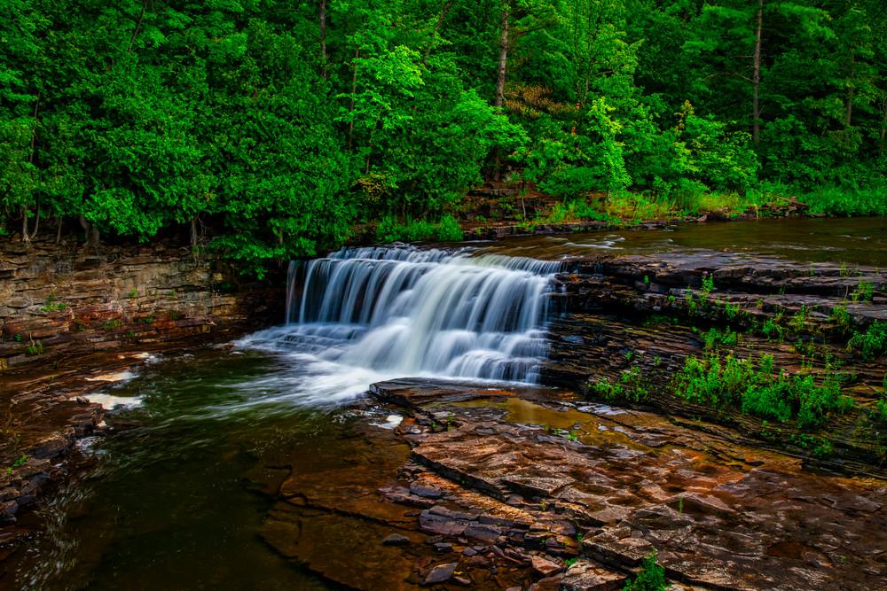 Woods Falls Serenity - Adirondack Mountains waterfall fine-art photography prints