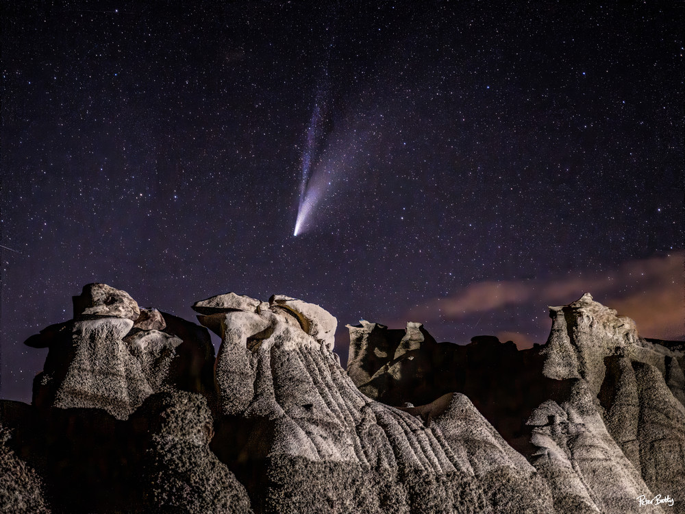Comet Over Bisti I Photography Art | Peter Batty Photography