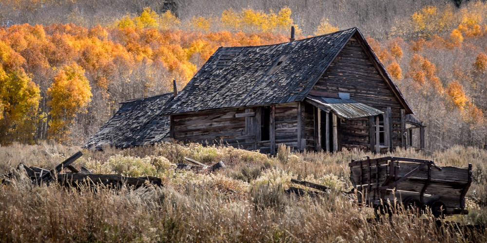 The Old Miner's Cabin Photography Art | Kirk Fry Photography, LLC