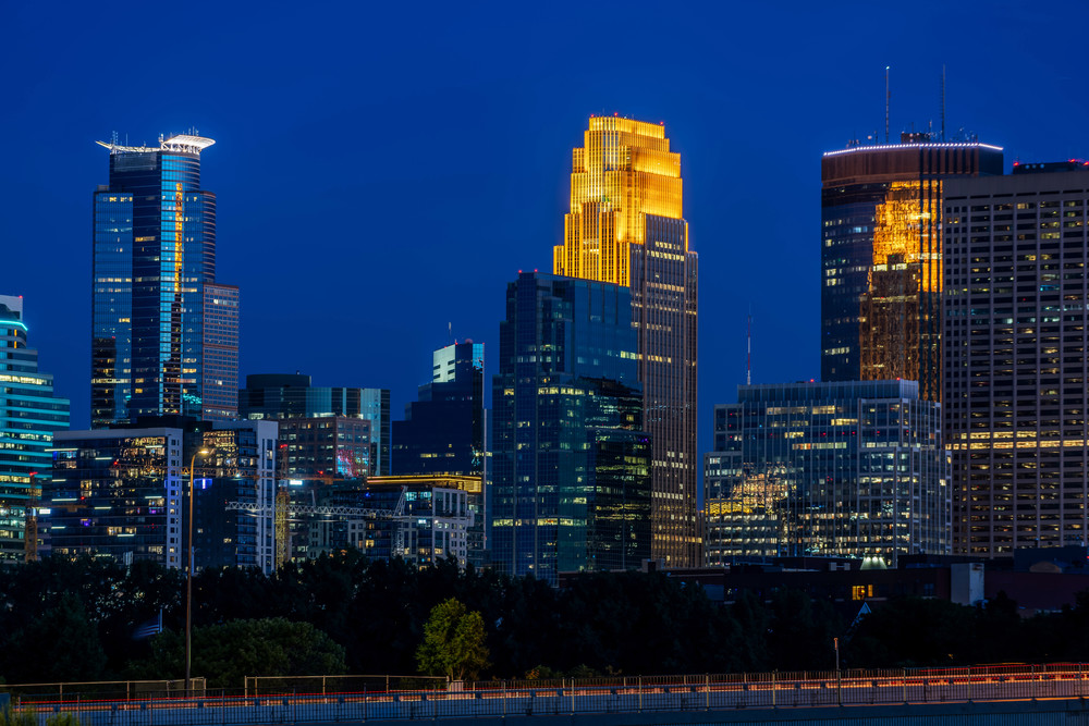 Plymouth Avenue And Minneapolis Skyline Photography Art | William Drew Photography