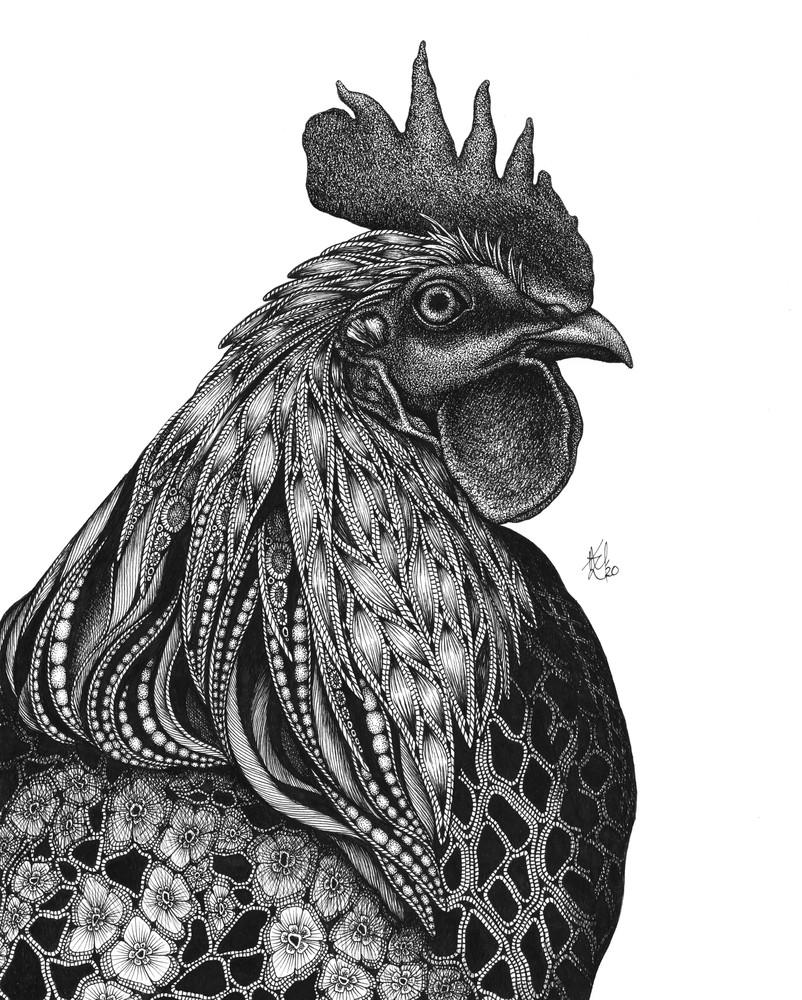 "Monsieur Coque A. Doodledoo Art | Kristin Moger ""Seriously Fun Art"""