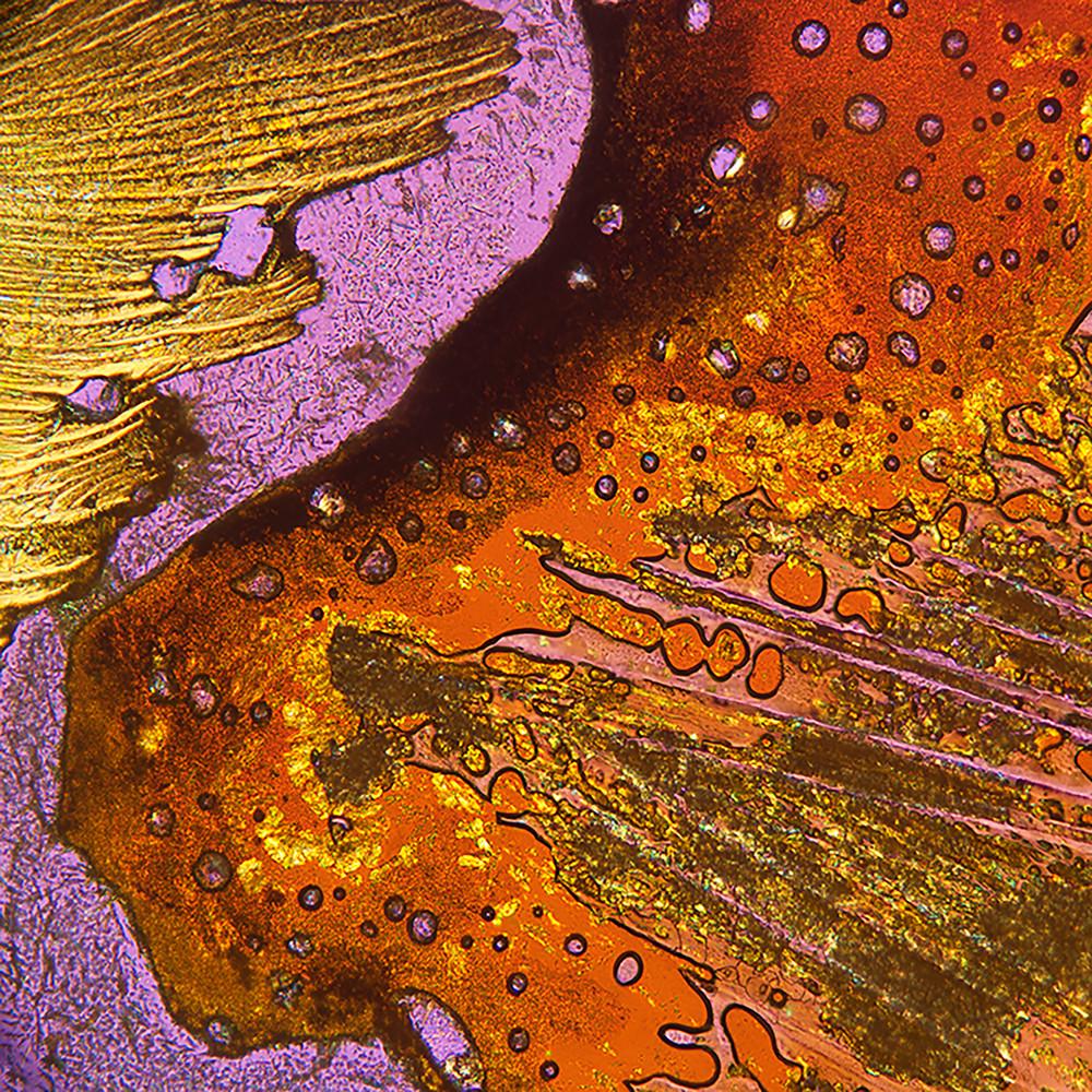 Lavender Swirl (Benzoic Acid Crystals) Art | Carol Roullard Art