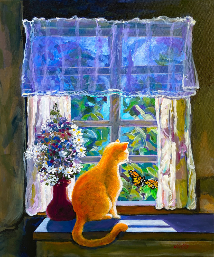 Ginger And The Monarch  Art | Charles Wallis