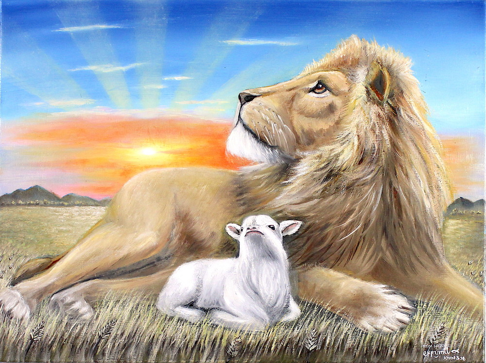The Lion And The Lamb Art | errymilart