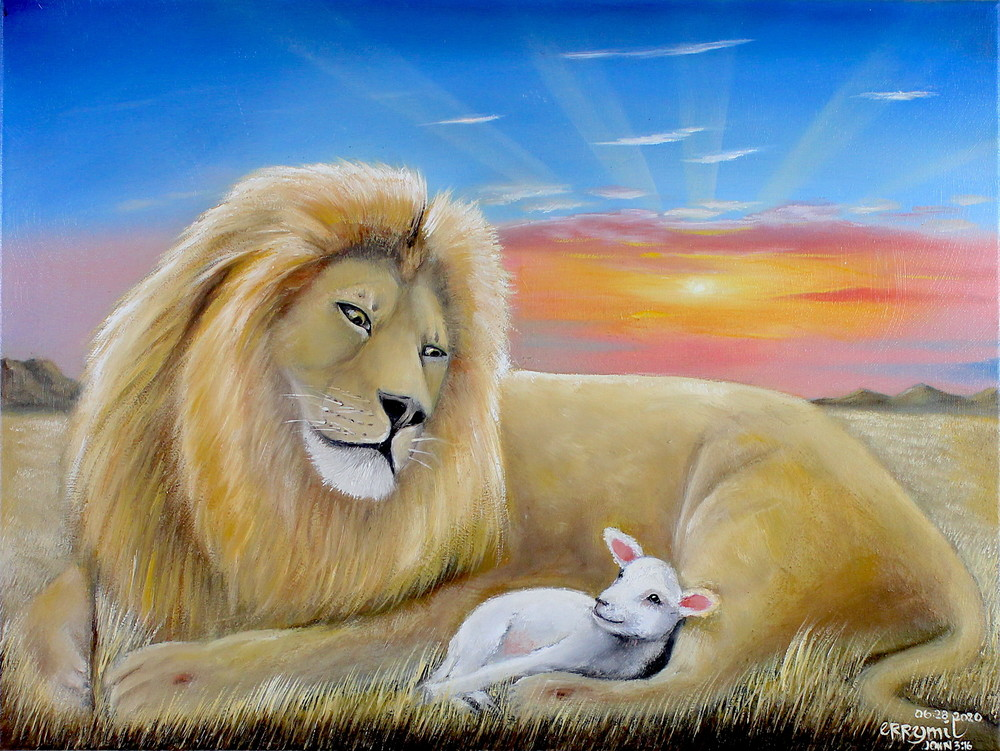 The Lion And The Lamb 1 Art   errymilart