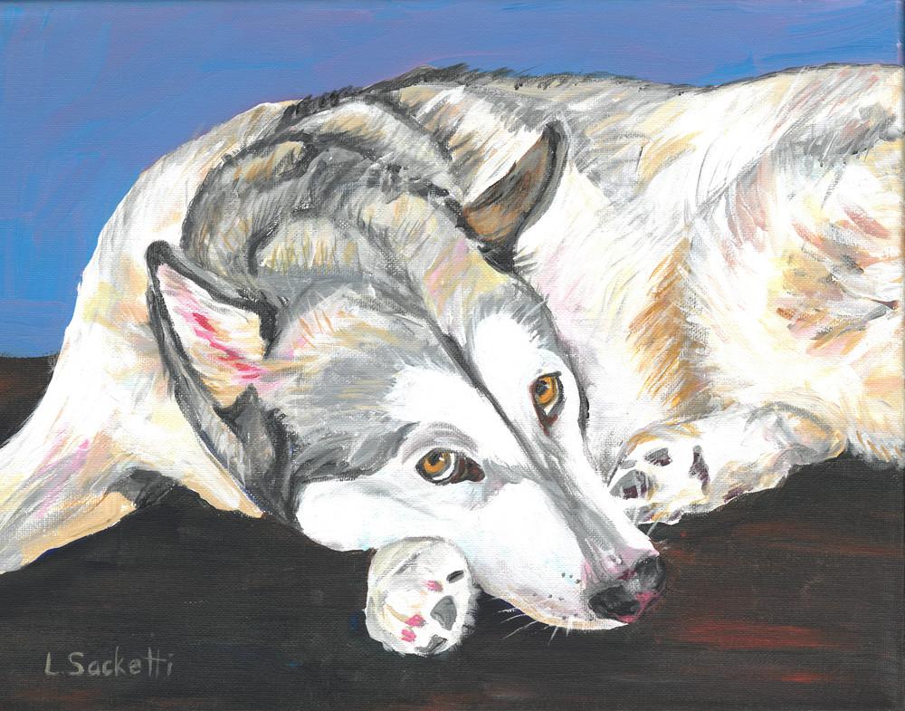 Mia The Alaskan Malamute Art   Linda Sacketti
