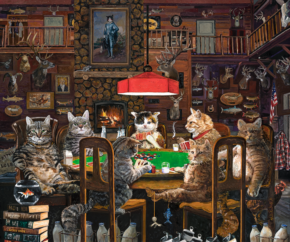 Cats Playing Poker Art | Julie Pace Hoff Gallery