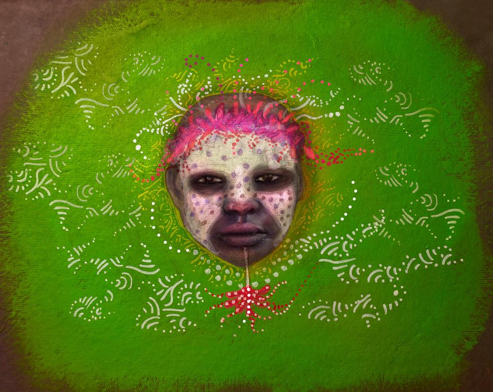 African Roots Green Art | Angelica Hoyos Studio