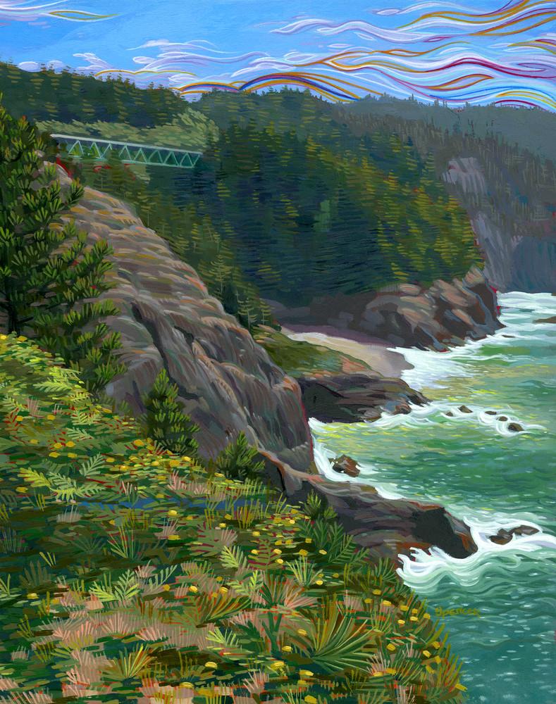 Thomas the Creek Bridge painting by Spencer Reynolds