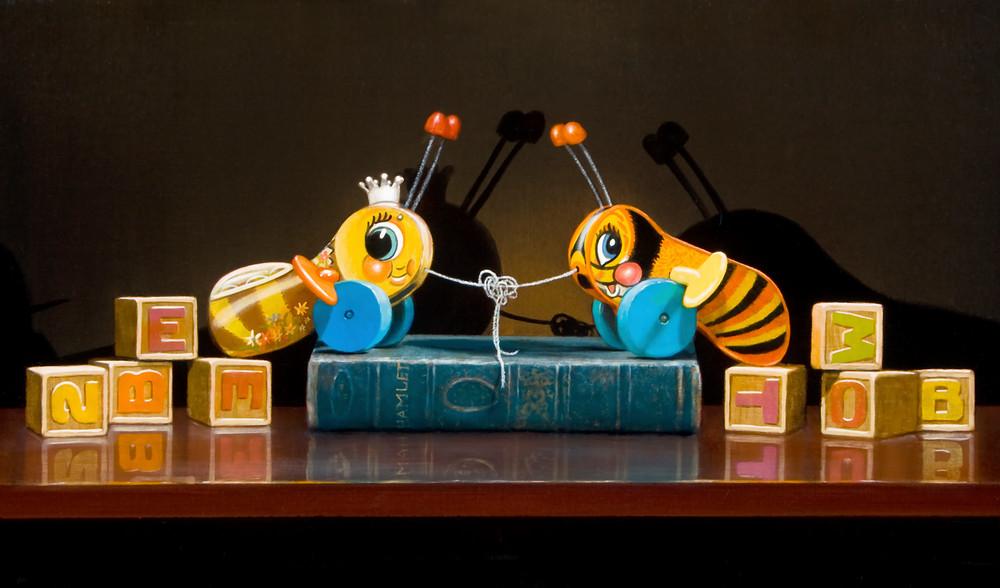 Too Bee Or Knot To Bee Art   Richard Hall Fine Art