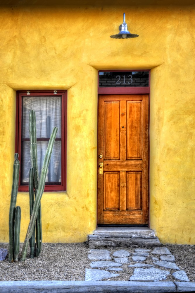 Door Window And Cactus Photography Art | Ken Smith Gallery