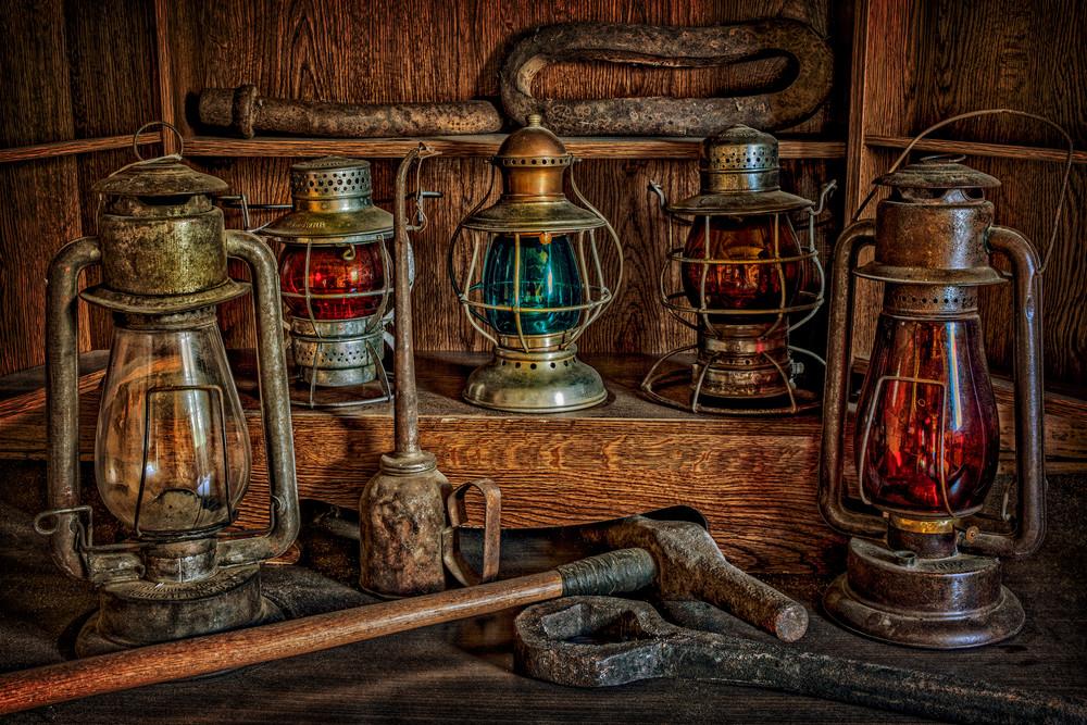 Railroad Lanterns Photography Art | Ken Smith Gallery