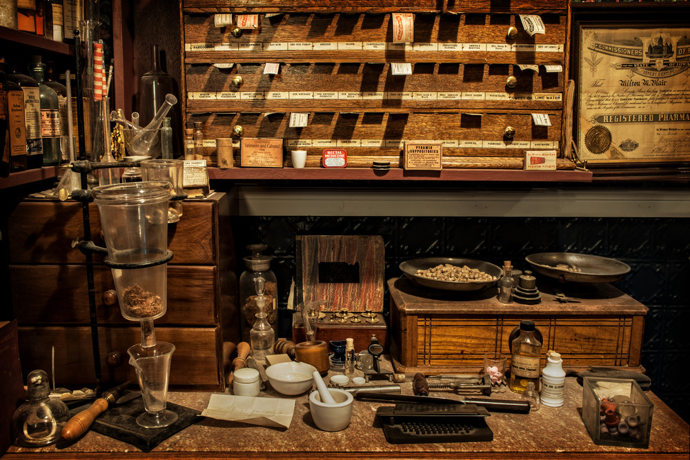 Pharmacist Workspace Photography Art | Ken Smith Gallery