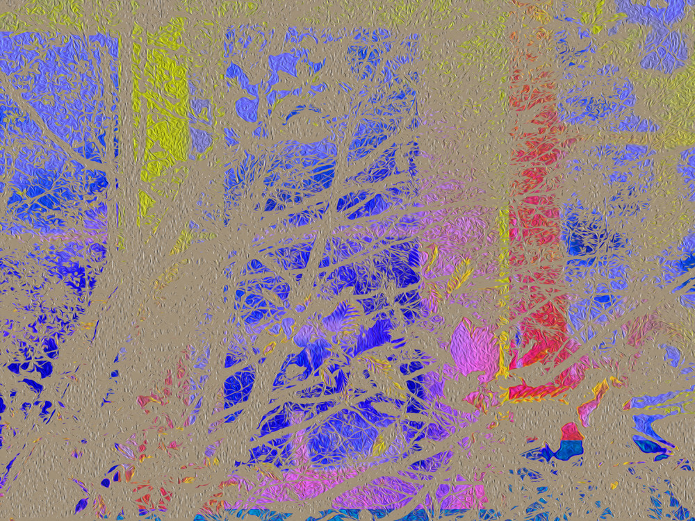 Blue Sky Red Sky At Night Remix Art | onlythemoon