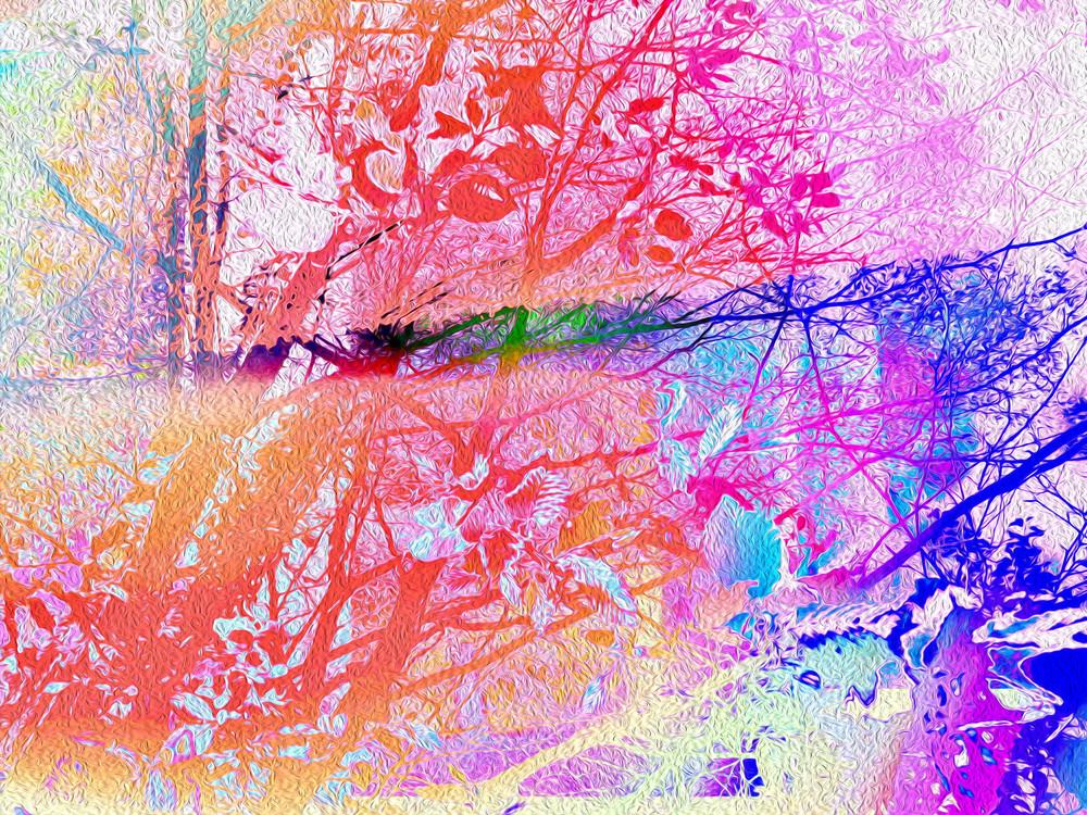 Under The Trees Rainbow Remix Art | onlythemoon