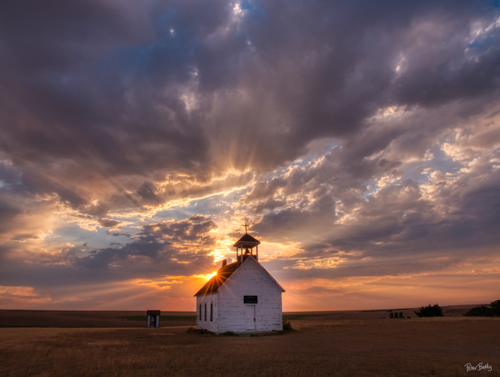 Sunset At Abbot Church Photography Art | Peter Batty Photography