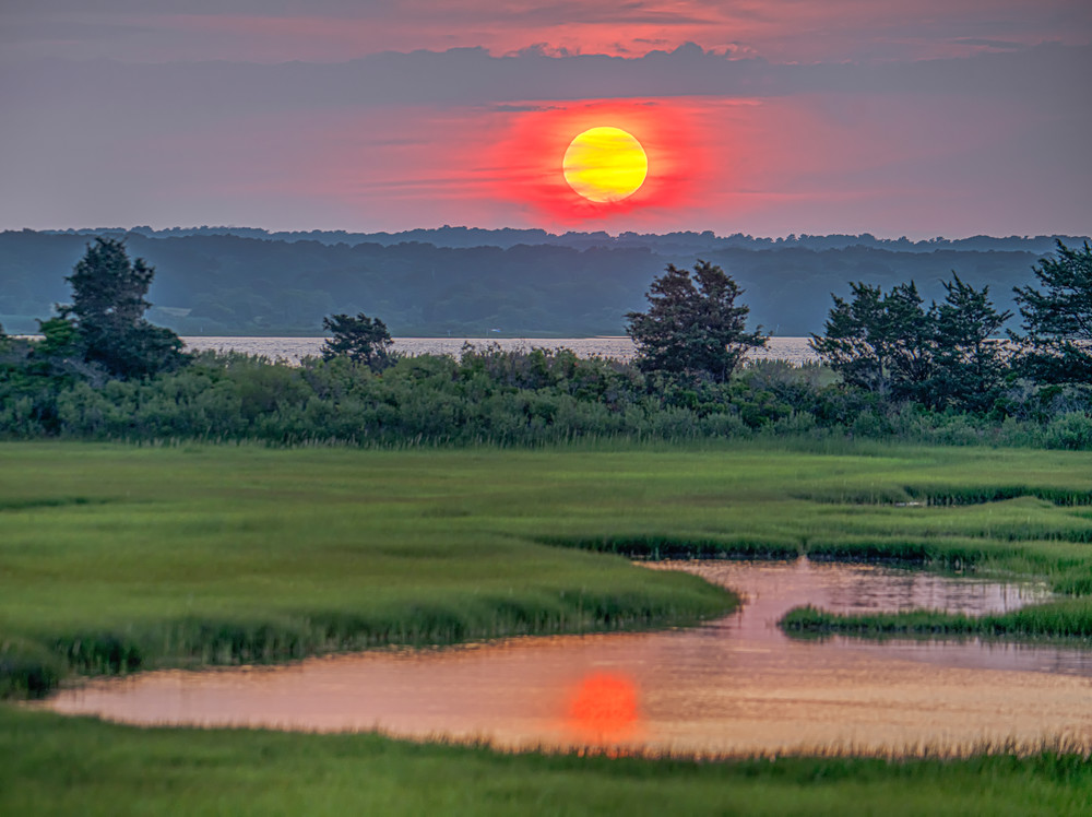 Sengekontacket Sun Reflection Art   Michael Blanchard Inspirational Photography - Crossroads Gallery
